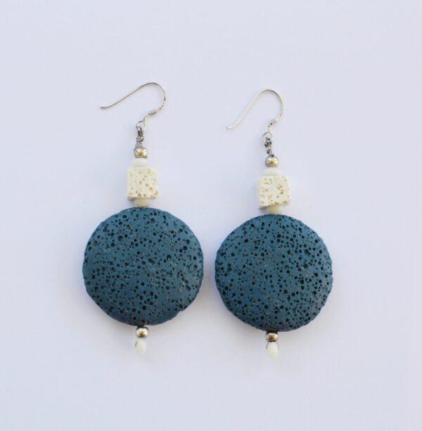 Σκουλαρίκια Μπλε Λάβα